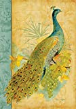 Toland Home Garden Fancy Feathers 28 x 40 Inch Decorative Peacock Feather Colorful Bird House Flag