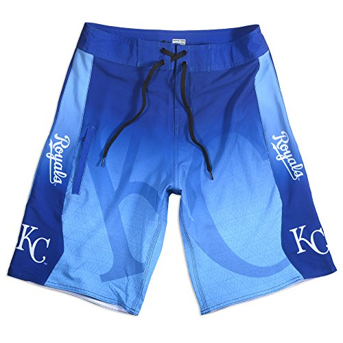 2015 MLB Baseball Mens Gradient Swimsuit Board Shorts - Pick Team (Kansas City Royals, 32)