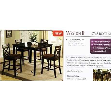 5 Pc Counter Ht Table Set