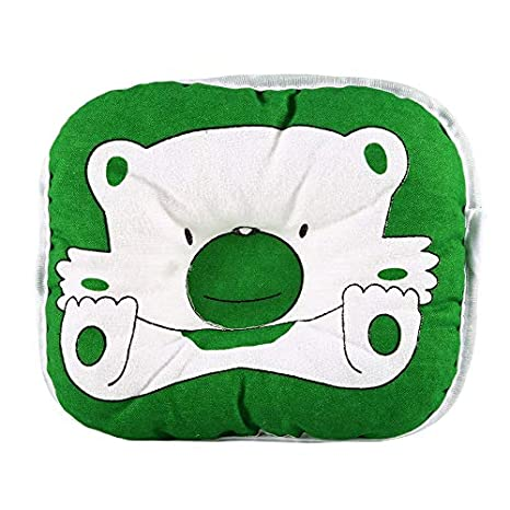 Lovely Cute Bear Cartoon Pattern Pillow Newborn Infant Baby Support Cushion Pad Prevent Flat Head Cotton Pillow For Baby