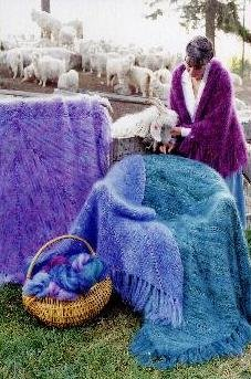 Marvelous Mohair Shawls & Afghans Knitting Pattern (AC-21) ()