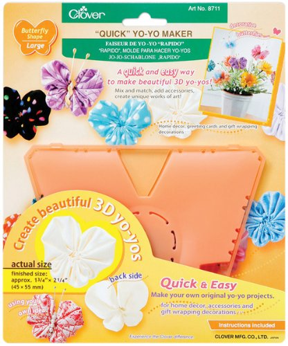 Quick Yo Yo Maker -Large Butterfly 1 pcs sku# 644502MA by Clover