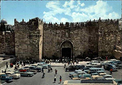 Jerusalem - Damascus Gate Jerusalem, Israel Original Vintage Postcard