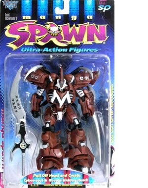 McFarlane Toys Series 9 Spawn 7 Inch Tall Ultra Action Figure - Manga Spawn with Wings and 7 Inch Sword