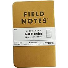 """Field Notes Left Handed Kraft Ruled Memo Books 3-Pack (3-1/2"""" × 5-1/2"""")"""