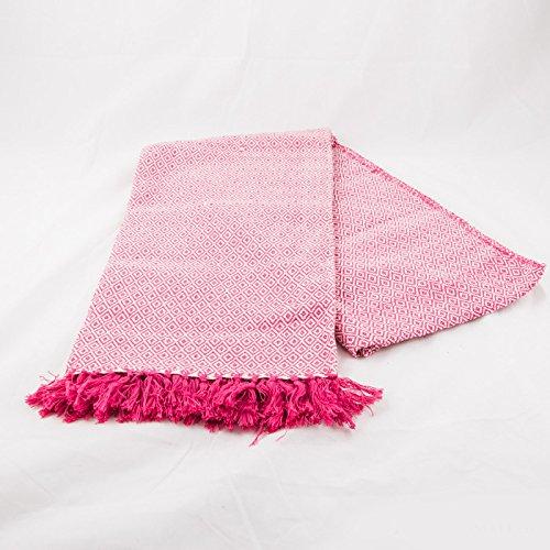sansukjai-100-cotton-pink-soft-hand-woven-blanket-mattress-cover-size-110-cm-x-200-cm