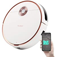 Yluspp Y51 Robotic Wet and Dry Vacuum Cleaner Max Power Suction with App Controls Self-Charging
