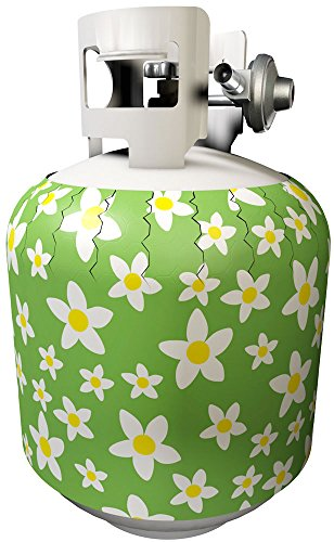 Jack-its Removable Retro Daisy Pattern Magnetic Tank Cover