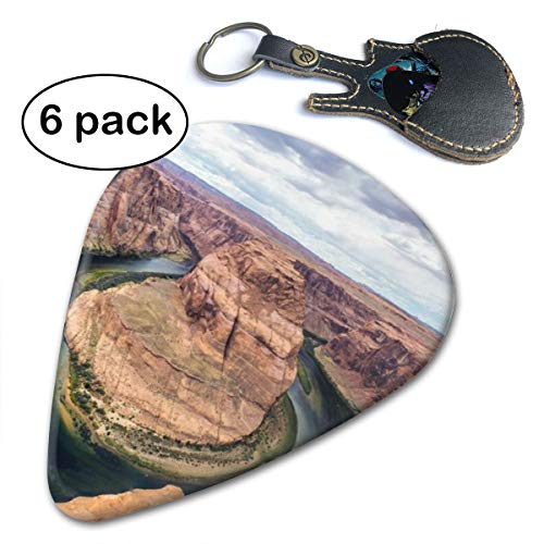(Horseshoe Bend Colorado River Landscape Gift Acoustic Electric Bass Guitar Picks 6 Pack Thin Medium)