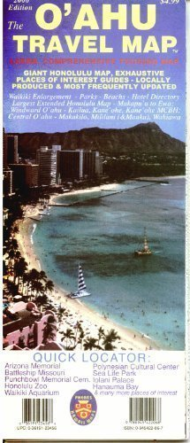 The O'Ahu Travel Map: Large, Comprehensive Touring Map: Giant Honolulu Map, Exhaustive Places of Interest Guides - Locally Produced & Most F