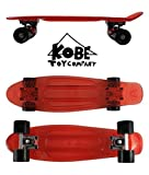 Kobe 40-320051 Penny Board 22-Inch-Red Transparent with Black Wheels