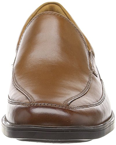 Leather Marrone Clarks Dark Uomo Tilden Free Tan Mocassini PSSqvgF