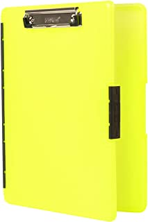 product image for Dexas 3517-803 Slimcase 2 Storage Clipboard with Side Opening, Neon Yellow