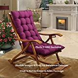 AMZ Exclusive Soft Rocking Chair Cushions Home Cotton Cushion Long Chair Pad (48 x 16 inches,Set of 1) (48 x 16 Inches, Purple)