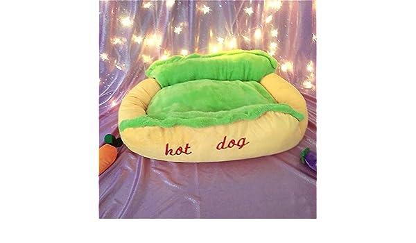 Weiwei Cama de Perro Hot Dogs, Fuentes, Gato del Animal doméstico Nido, extraíble y Lavable Temporadas Pase: Amazon.es: Productos para mascotas