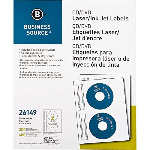 Business Source CD/DVD Laser/Inkjet Label (26149)