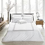 Merryfeel 3 Piece Duvet Cover Set(King,White) Hotel Quality Brushed Velvety Microfiber - Luxurious, Comfortable, Breathable, Soft & Extremely Durable