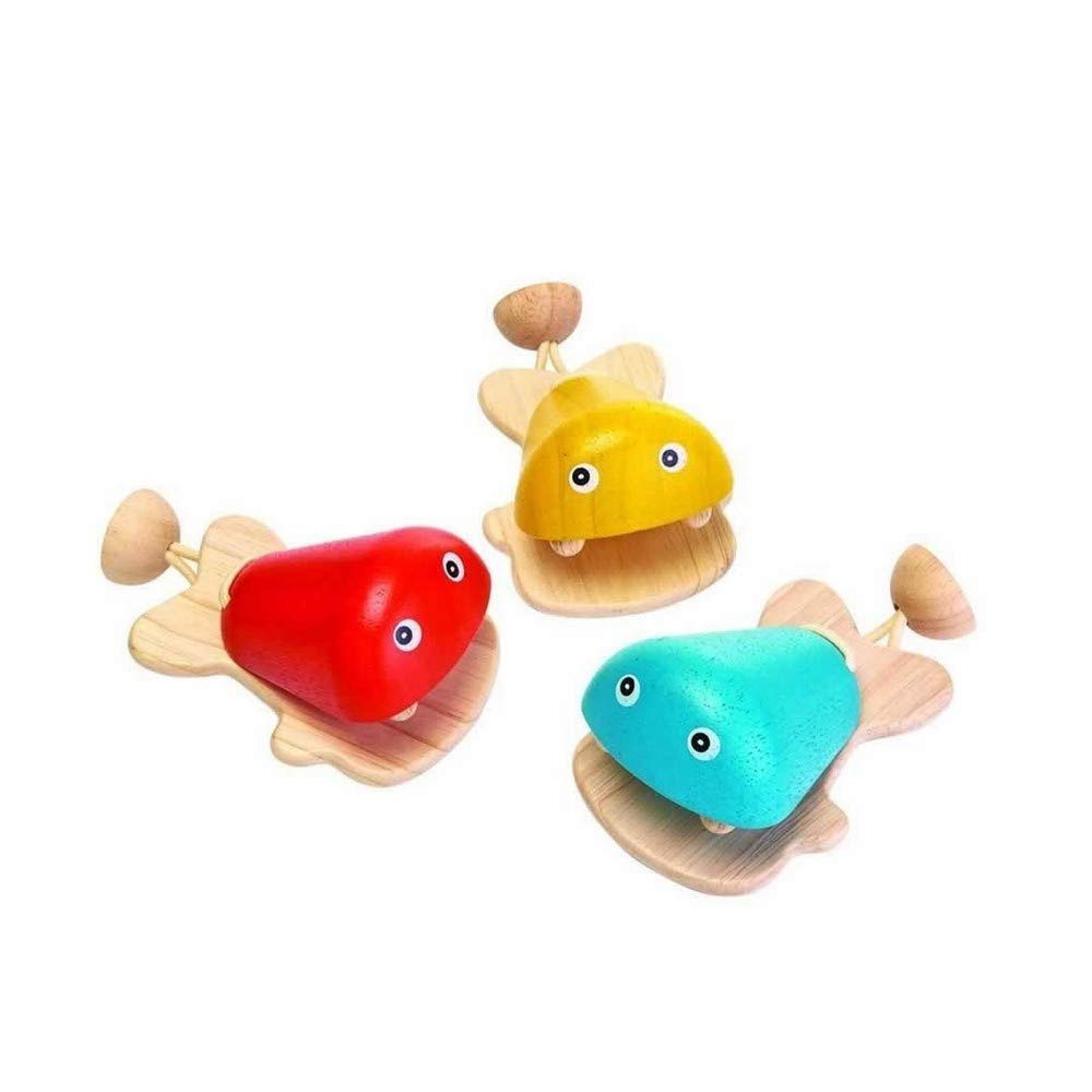 PlanToys Childrens Wooden Percussion Musical Fish Castanet