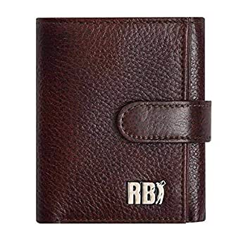 Textured Small Trifold Pu Leather Wallet With a Buttoned Closure