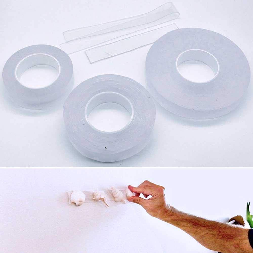 Volwco The Reusable Adhesive Silicone Tape,Multi-Functional Anti-Slip Double Sided Sticky Strips,Universal Anti-Slip Gel Pads Sticky Tape,Gel Tape Roll Wall Stickers 1 Meter//3.28 Foot Long