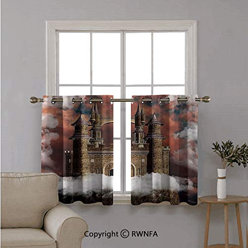 RWNFA Curtains for Kitchen for Bathroom,Fairy Magic