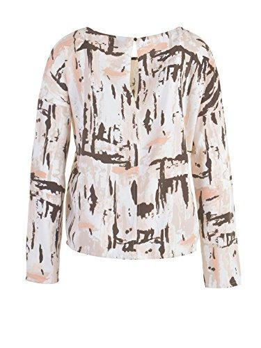 VILA Damen Bluse Shirt, creme-braun
