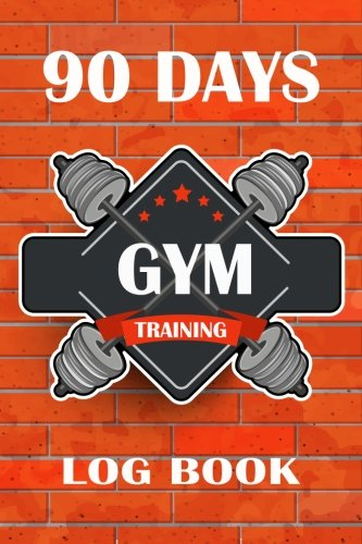 90 Days Gym Training Log Book: Retro Style Fitness Journal Workout and Progress Tracker Notebook Exercise Workout Cardio Log Diary Size 6x9 Inches