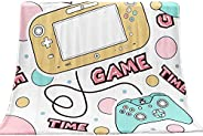 Gamer Gaming Blankets for Kid Boys Teens Men Video Games Gamepad Plush Soft Fuzzy Fleece Sherpa Throw Blankets