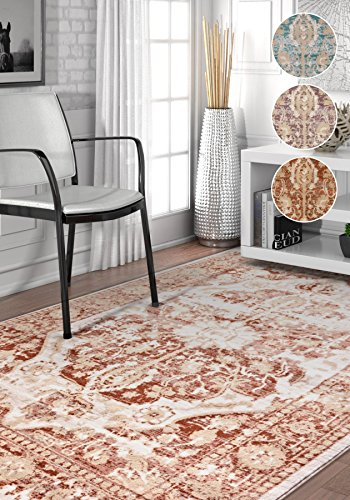 Millie Tribal Copper Rust Medallion Area Rug 8x11 (7'10