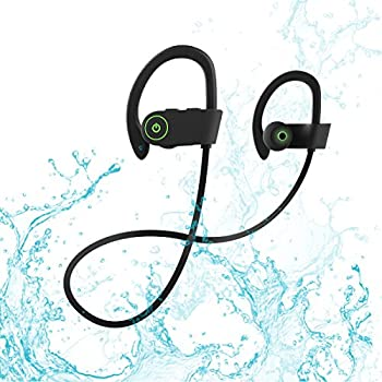 Bluetooth Headphones, Rotuyes Wireless Sports Headphones with Mic IPX7 Waterproof HD Stereo Sweatproof In-Ear Ear Buds Noise Cancelling Headsets for iPhone ...