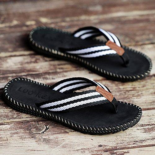Bajas de Cáñamo Negro Hombre Zapatillas Qianliuk Uw5EqYn