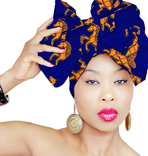 HEAD WRAP   Hijab   African HeadWrap African Fabric Scarf Headband Chic Collection Light Weight African Head Wrap Turban ROYAL HEAD WRAPS]()