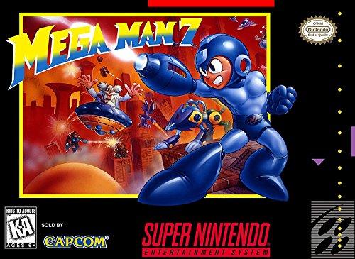 Mega Man 7 (Super Nintendo, SNES) - Reproduction Video Game Cartridge with Custom Replica Miniature Box and Glossy Manual