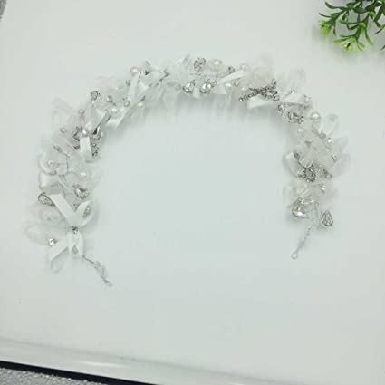 Amazon.com: TKHNE Bridal headdress hair accessories sweet handmade