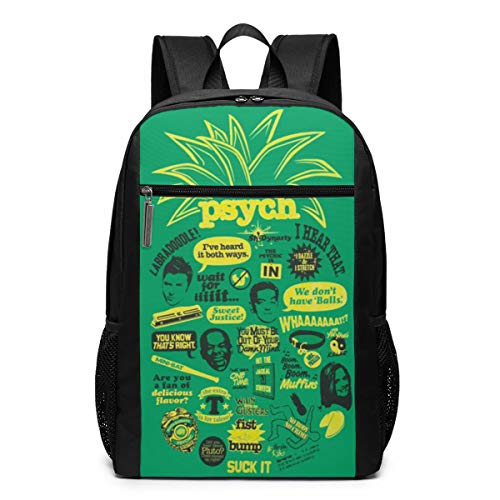 Psych Pineapple Quote Mash Up Backpack 17 Inch Srggkjs -