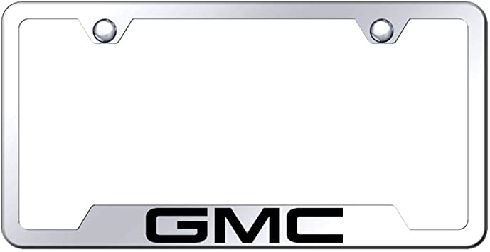 License Plate Frame for GMC Denali Stainless Steel Black Au-Tomotive Gold INC