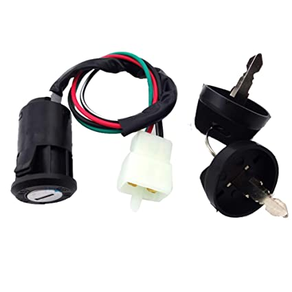 51PtWPqjulL._SX425_ amazon com tc motor 4 pin wire ignition key switch for chinese quad