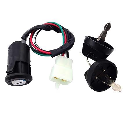 amazon com tc motor 4 pin wire ignition key switch for chinese quad rh amazon com 50Cc Dirt Suzuki 50Cc ATV