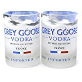 Grey Goose Vodka Bottle Rocks Glasses - Set of Two