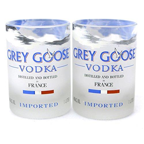 Grey Goose Vodka Bottle Rocks Glasses - Set of Two