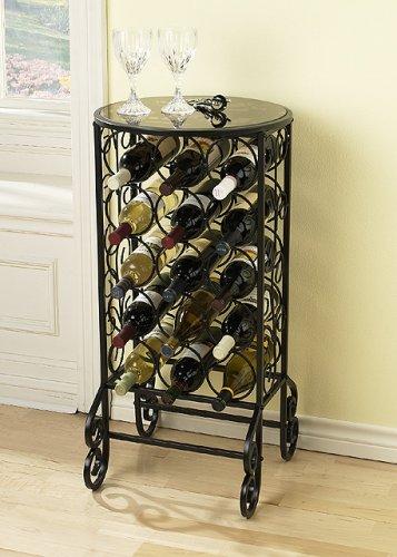SEI Glass Top Wine Table