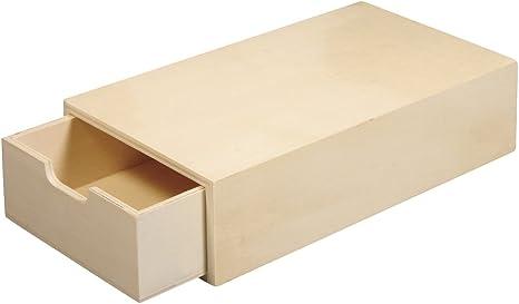 RAYHER HOBBY 62601000 Caja de Madera FSC Mix Credit, 20 x 10 x 5 cm, Compartimento Interior extraíble: Amazon.es: Hogar