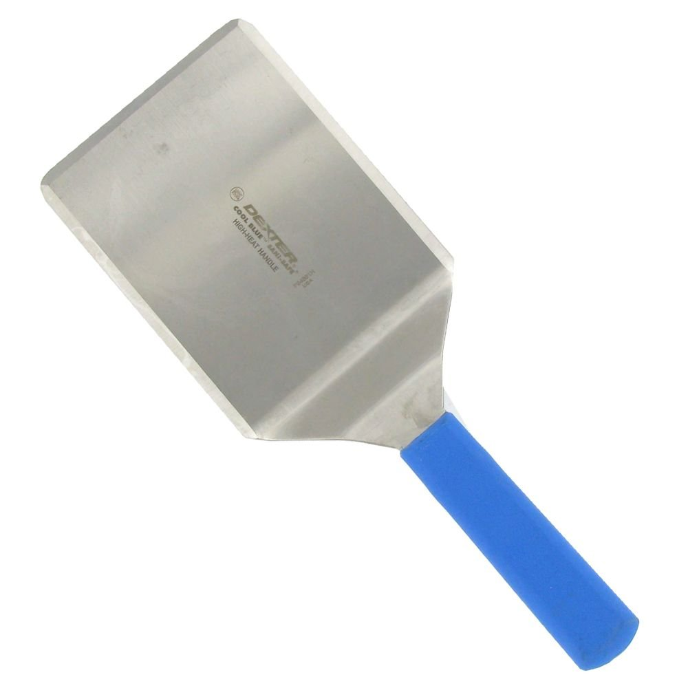 Dexter Russell 31655H High Heat S/S 6 x 5 Turner w/Blue Handle by Dexter Russell Cutlery