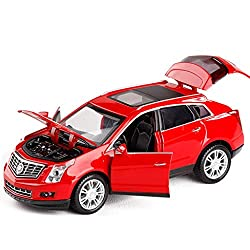 GYZS-TOY Cadillac SRX 1:32 Alloy Car Model Open Door Sound and Light Pull Back Car Model Children's Toy Car from GYZS-TOY
