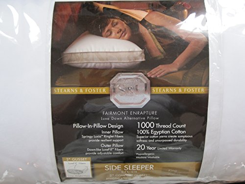 Stearns And Foster Reviews >> Stearns & Foster Fairmont Enrapture Luxe Down Alternative Side-Sleeper Pillow (King) - Buy ...