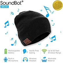 SoundBot¨ SB210 HD Stereo Bluetooth 4.1 Wireless Smart Beanie Headset Musical Knit Headphone Speaker Hat Speakerphone Cap,Built-in Mic (BLK)