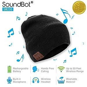 SoundBot SB210 HD Stereo Bluetooth 4.1 Wireless Smart Beanie Headset Musical Knit Headphone Speaker Hat Speakerphone Cap…