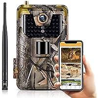 SuntekCam Cámara de caza 4G 3G MMS SMTP 20 MP 1080P Wildlife cámara impermeable IP66 Trail Camera, visión nocturna…