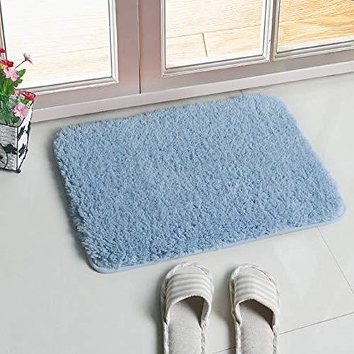 Heavy Duty Door Vestibule (Q&F Premium Entry Mat Heavy Duty Doormat Bathmat Nonslip For Kids Easy Clean,Low Profile Mat For Entry,Porch-Light blue 60x90cm(24x35inch))