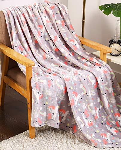 (Décor&More Summertime Whimsy Plush Fleece Throw Blanket (50